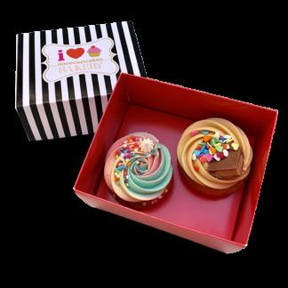 Box of 2 classic cupcakes
