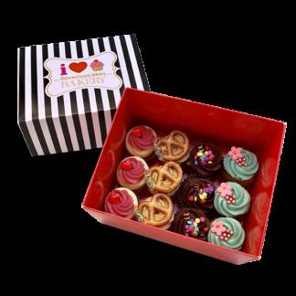 קופסת מתנה 12 קאפקייקס מיני