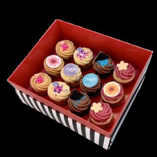 קופסת מתנה 12 קאפקייקס בינוני תודה