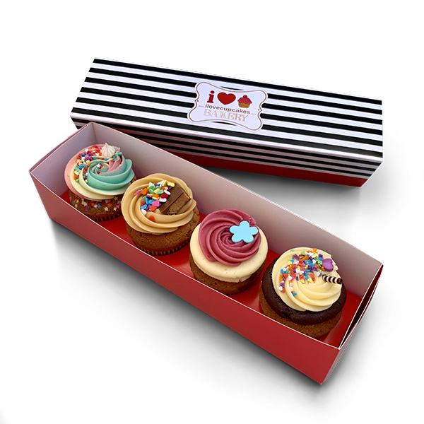 Box of 4 classic cupcakes