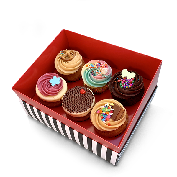 box of 6 classic cupcakes