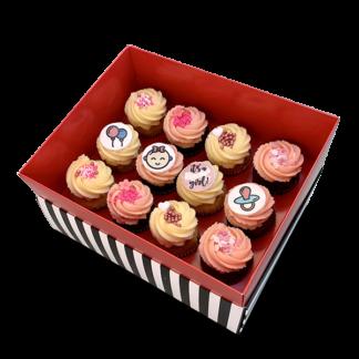 newborn baby girl cupcakes