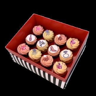 קופסת מתנה 12 קאפקייקס בינוני למסיבת רווקות
