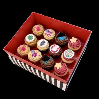 קופסת מתנה 12 קאפקייקס בינוני לג'וד לאק