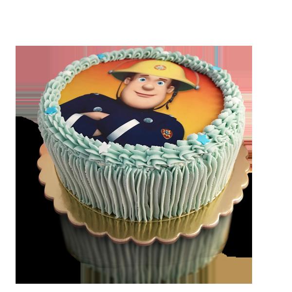 עוגת יום הולדת מודפסת כחול