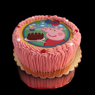 edible image cake pink