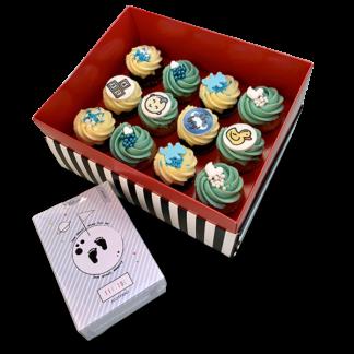 12 medium cupcakes & tipitoe
