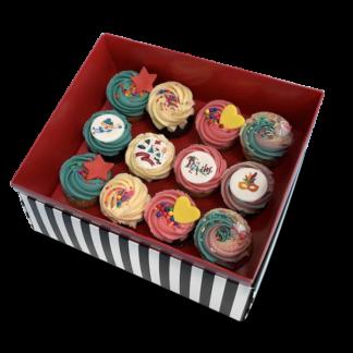 12 medium cupcakes purim