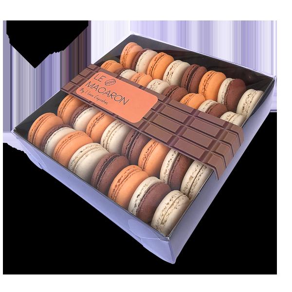 מקרונים שוקולד קופסה גדולה